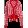 Vintage Deep V-Neck Plaid Knit Sweater C - Swetry na guziki - $35.99  ~ 30.91€