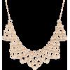 Vintage Style Golden Bib Statement Neckl - Halsketten -
