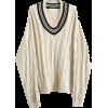 Vintage V-neck colorblock twisted knit p - Swetry - $45.99  ~ 39.50€