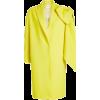 Virgin Wool Coat with Oversized Bow - De - Jacket - coats -