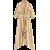 V-neck beige A-letter cotton and linen d - Dresses - $29.99