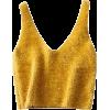 V-neck mohair short knit vest - 坎肩 - $19.99  ~ ¥133.94