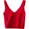 V-neck mohair short knit vest - 坎肩 - $19.99  ~ ¥133.94