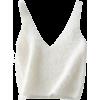 V-neck mohair short knit vest - Vests - $19.99