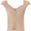 V-neck solid color knit short-sleeved to - Košulje - kratke - $23.99  ~ 152,40kn