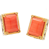 Vogue Bamboo Coral Studs - Earrings -