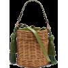 WAI WAI Sabia wicker bucket bag - メッセンジャーバッグ -