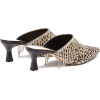 WANDLER Bente crystal-fringed calf-hair - Ballerina Schuhe -