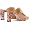 WANDLER Isa square open-toe platform lea - Sandals -