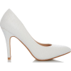 WHITE HEELS - Classic shoes & Pumps -