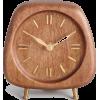 Walnut Wood Mid Century Clock - Przedmioty -