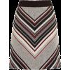 Warehouse Stripe Tweed Pelmet Skirt - Skirts -