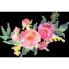 Watercolor Flower Bunch - Plantas -