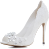Wedding Shoes With Flower Crystals - Classic shoes & Pumps - $74.50