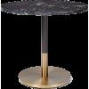 West Elm black marble bistro table - Furniture -