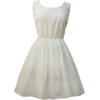 White Vintage Dress - Dresses -