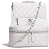 White. Backpack. CHANEL - Mochilas -