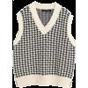 White. Black. Vest - Swetry -