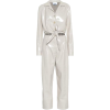 White Faux Leather Jumpsuit - Other -
