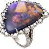 White Gold, Opal And Diamond Ring - Anelli -