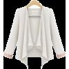 White Long Sleeve Casual Crop Blazer - Sakoi -