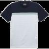 White/Navy/Mint Premium Chest Stripe T-S - T-shirts - £28.00  ~ $36.84