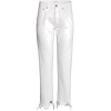 White. Pants - Pantalones Capri -