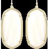 White Pearl Danielle Statement Earrings - Earrings -