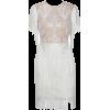 White Round Neck Lace Fringed Decorative - Dresses - $69.99  ~ £53.19