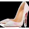 White. Shoes. Louboutin. Pink. Blue - Классическая обувь -