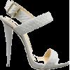 White Strappy Heel - Klasični čevlji -