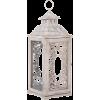 White Washed Scroll Wood Lantern - Illustrations - $44.99