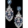White and blue earrings - Kolczyki -