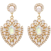White beige gold - Earrings -