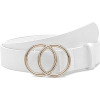 White double o ring belt - Belt -