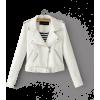 White leather jacket - Jacket - coats -