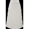 White pleated chiffon skirt - Skirts -