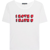 White shirt. I love you - Рубашки - короткие -