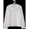 White shirt kawaii old style long sleeve - Long sleeves shirts - $35.00