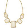 White statement necklace - Ogrlice -
