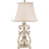 Whitewashed Scroll Lamp - Illustrations - $79.99