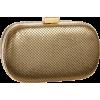 Whiting & Davis 1-5721 Minaudiere Matte Gold - Bag - $130.00