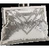 Whiting & Davis Crystal Chevron Cross-Body Silver - Torbe - $120.00  ~ 103.07€