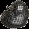Whiting & Davis Heart Clutch Black - Carteras tipo sobre - $150.00  ~ 128.83€