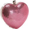 Whiting & Davis Heart Clutch Pink - Clutch bags - $150.00