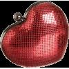 Whiting & Davis Heart Clutch Red - Schnalltaschen - $150.00  ~ 128.83€
