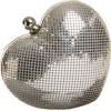 Whiting & Davis Heart Clutch Silver - Clutch bags - $133.09
