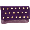 Whiting & Davis Studded Suede Flap Clutch Purple - Borse con fibbia - $116.26  ~ 99.85€
