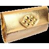 Whiting & Davis Women's Large Crystal Patch Flap Clutch Gold - Bolsas com uma fivela - $285.00  ~ 244.78€