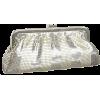 Whiting & Davis Women's Matte Shine Stripes Clutch Silver - Clutch bags - $91.99